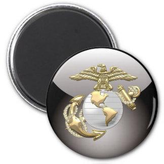 USMC Eagle, Globe & Anchor (EGA) [3D] 6 Cm Round Magnet
