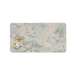 USMC Eagle, Globe & Anchor (EGA) [3D] Address Label