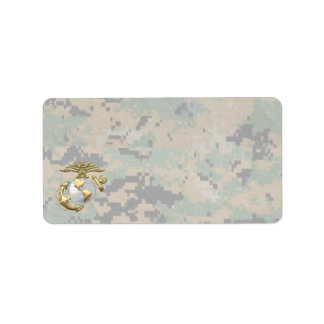 USMC Eagle, Globe & Anchor (EGA) [3D] Label