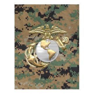 USMC Eagle, Globe & Anchor (EGA) [3D] Postcard