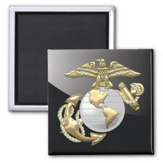 USMC Eagle, Globe & Anchor (EGA) [3D] Square Magnet