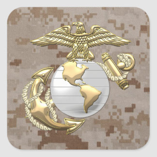USMC Eagle, Globe & Anchor (EGA) [3D] Square Sticker