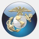 USMC Eagle, Globe & Anchor (EGA) [3D] Round Sticker