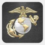 USMC Eagle, Globe & Anchor (EGA) [3D] Square Stickers