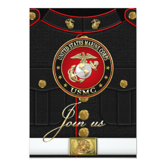 USMC EGA [Special Edition] [3D] 13 Cm X 18 Cm Invitation Card