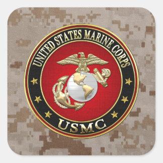 USMC EGA [Special Edition] [3D] Square Sticker