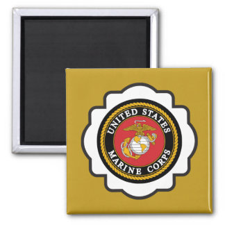 USMC Emblem Square Magnet