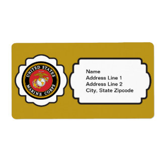 USMC Emblem Shipping Label