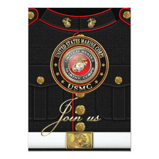 USMC Emblem [Special Edition] [3D] 13 Cm X 18 Cm Invitation Card