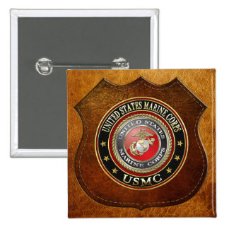 USMC Emblem [Special Edition] [3D] 15 Cm Square Badge