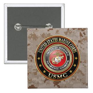 USMC Emblem [Special Edition] [3D] 15 Cm Square Badge