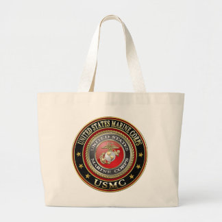 USMC Emblem [Special Edition] [3D] Large Tote Bag
