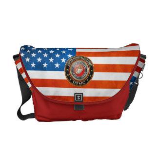USMC Emblem [Special Edition] [3D] Messenger Bags