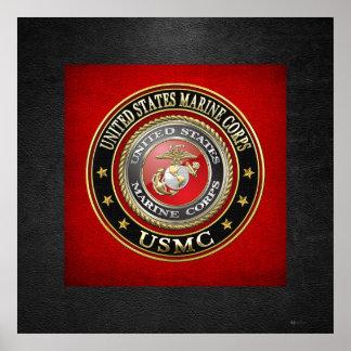 USMC Emblem [Special Edition] [3D] Poster