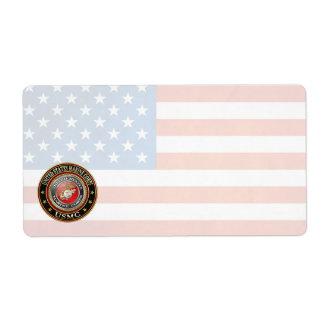 USMC Emblem [Special Edition] [3D] Shipping Label