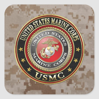 USMC Emblem [Special Edition] [3D] Square Sticker