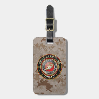 USMC Emblem Special Edition 3D Tags For Luggage