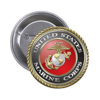 USMC Emblem & Uniform [3D] 6 Cm Round Badge