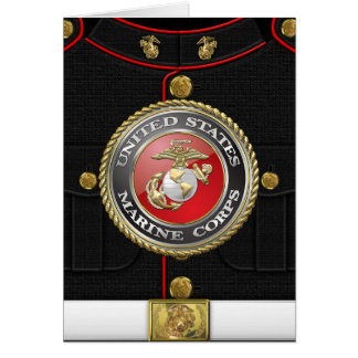 USMC Emblem & Uniform [3D] Card