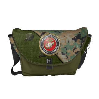USMC Emblem & Uniform [3D] Commuter Bags