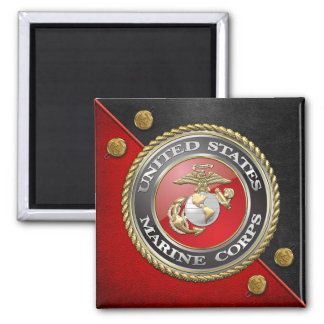 USMC Emblem Uniform 3D Refrigerator Magnet