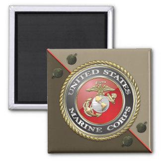 USMC Emblem Uniform 3D Fridge Magnets
