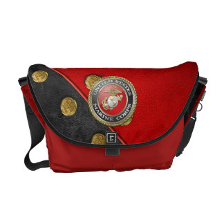 USMC Emblem & Uniform [3D] Messenger Bag