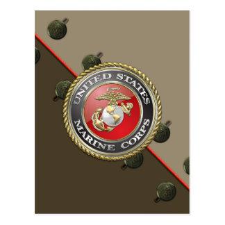 USMC Emblem Uniform 3D Post Cards