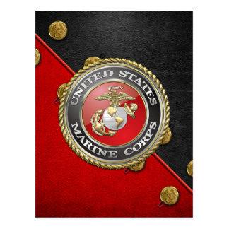 USMC Emblem Uniform 3D Postcards
