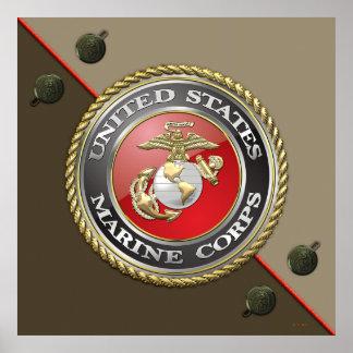 USMC Emblem & Uniform [3D] Poster