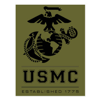 USMC Established 1775 Postcard