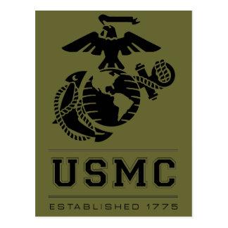 USMC Established 1775 Postcard