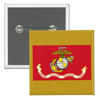 USMC Flag 15 Cm Square Badge