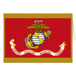 USMC Flag Card