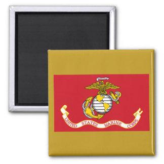 USMC Flag Square Magnet