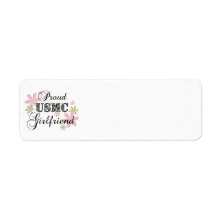 USMC Girlfriend [fl camo] Return Address Label