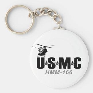 USMC HMM-166 keychain
