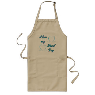 USMC I Love My Devil Dog Long Apron