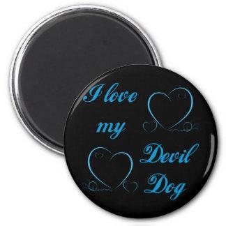 USMC I Love My Devil Dog Magnets