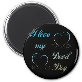 USMC I Love My Devil Dog Magnet