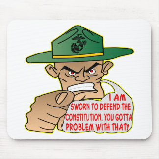 USMC I'm Sworn To Defend The Constitution Mouse Pad
