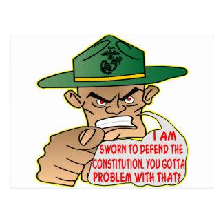 USMC I'm Sworn To Defend The Constitution Postcard