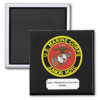 USMC Junior Reserve Officers' Training Corps Square Magnet