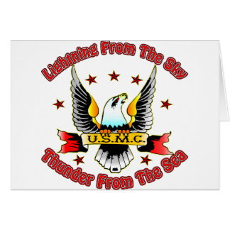 USMC Lightning From The Sky Thunder From The Sea Card