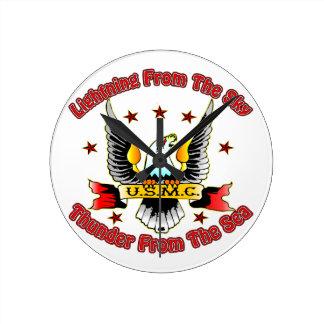 USMC Lightning From The Sky Thunder From The Sea Clocks