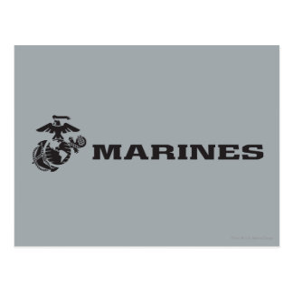 USMC Logo - Black Postcard