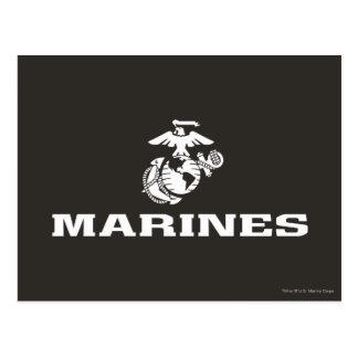 USMC Logo Stacked - White Postcard