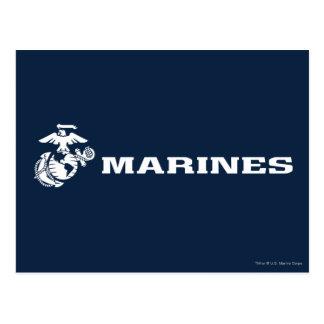 USMC Logo - White Postcard