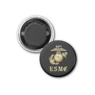 USMC 3 CM ROUND MAGNET