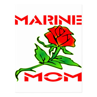 USMC Marine Mom Rose Postcard